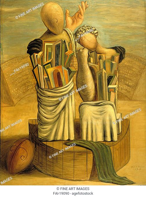 Comedy and Tragedy. De Chirico, Giorgio (1888-1978). Oil on canvas. Surrealism. 1926. Museo di arte moderna e contemporanea di Trento e Rovereto