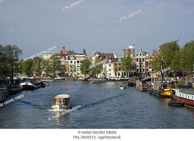 Ship on the Binnen Amstel, Amsterdam, Netherlands