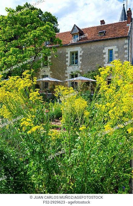 Garden of the Priest and House of the Priest Bed & Breakfast, Chedigny Garden-village, Indre-et-Loire Department, The Loire Valley, France, Europe