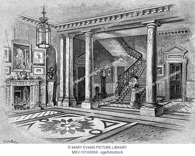 The entrance hall of MILLAIS' home at Palace Gate, Kensington, London