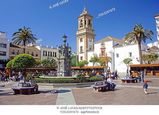 Plaza Alta and Church of La Palma, Algeciras, Cadiz-province, Region of Andalusia, Spain, Europe