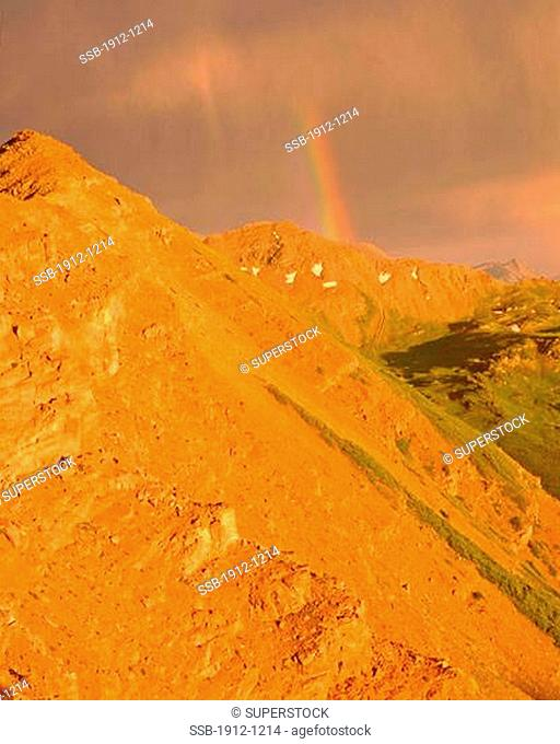 Summer Rainbow at Maroon Bells Maroon Bells Snowmass Wilderness Rocky Mountains Colorado
