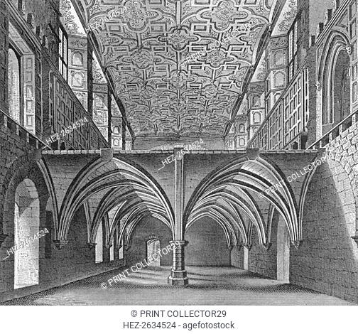 The crypt of the Nunnery of St Helen, Bishopsgate, City of London, c1819 (1906). Artist: William Capon