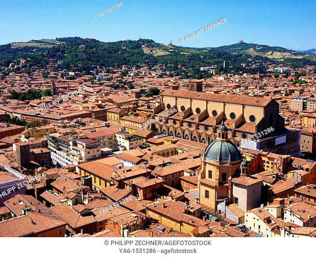 The City of Bologna, seen from Asinelli Tower