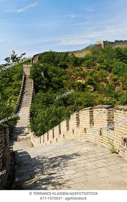The Great Wall of China, Mutainyu section near Beijing, China
