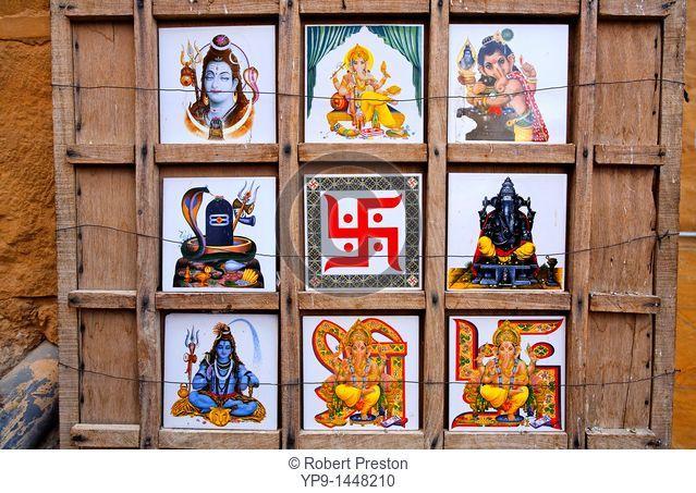 India - Rajasthan - Jaisalmer - souvenirs for sale in Jaisalmer Fort