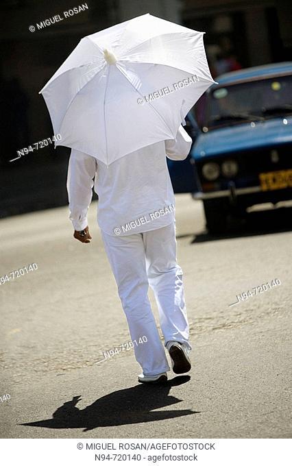 Man in white, Havana. Cuba