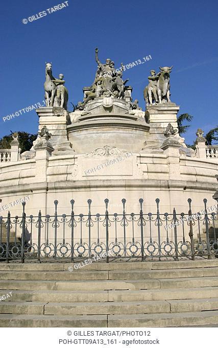 tourism, France, upper normandy, seine maritime, rouen, rue aux ours, street, fountain sainte marie, rue louis ricard, street