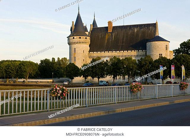 The castle from the bridge over the Loire river