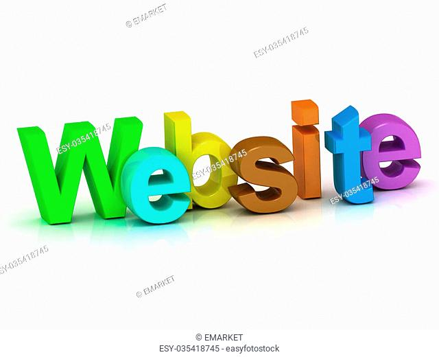 Website bright colour letters on white background