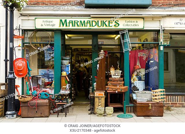 A second hand shop in the market town of Midhurst, West Sussex, England