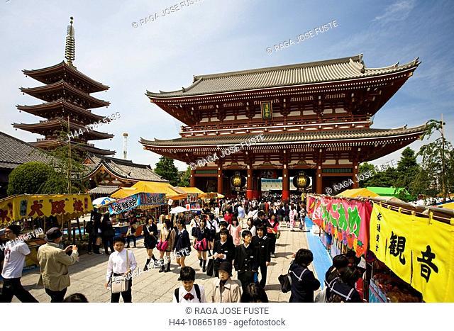 Japan, Tokyo City, Asakusa District, Nakamise Dori, Street