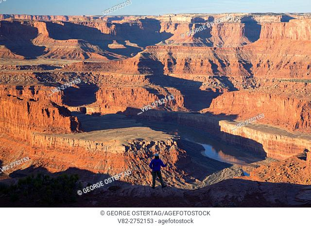 Colorado River canyon from West Rim Trail, Dead Horse Point State Park, Utah