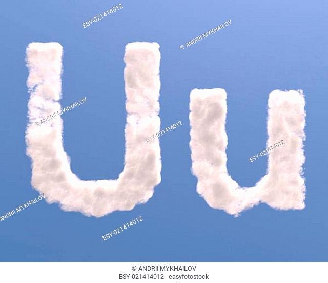 Letter U cloud shape