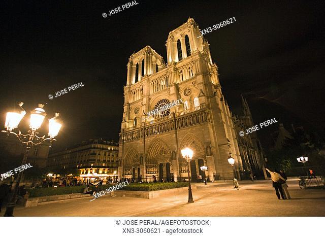 Our Lady of Paris, Notre Dame Cathedral, Île de la Cité, Paris, France, Europe