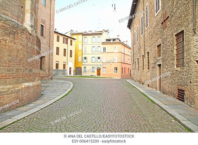 St. Giovanni monastery and apse of the Duomo, Parma, Emilia Romagna, Italy