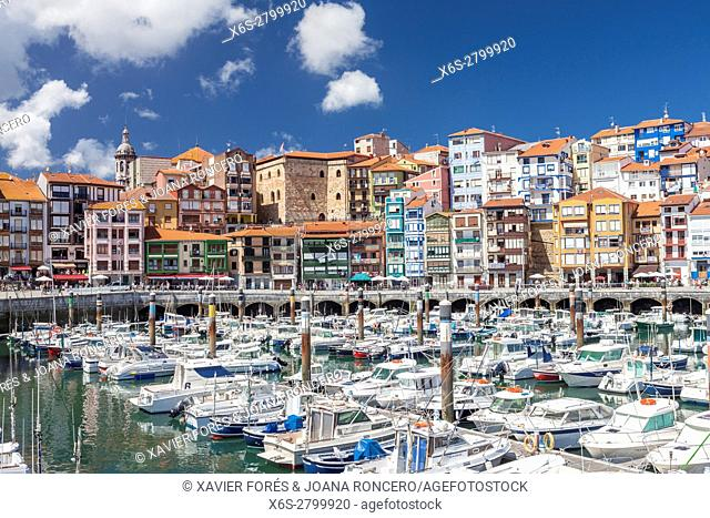 Bermeo village in Vizcaya province, The Basque Country, Spain