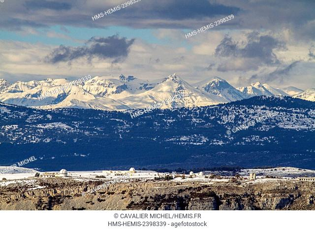 France, Alpes Maritimes, Regional Natural reserve of Pre-Alps of Azur, Caussols, site of astronomical observation of the tray of Calern