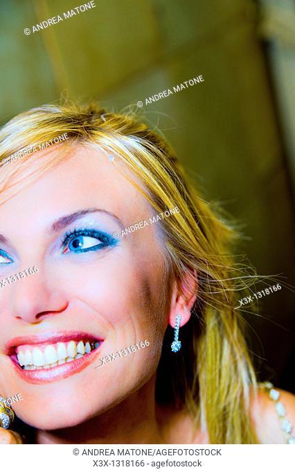 Portrait close-up of woman smiling