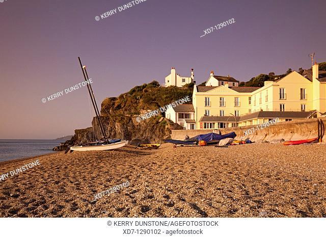 England Devon Torcross from Slapton Sands with 'Tor + Hotel'