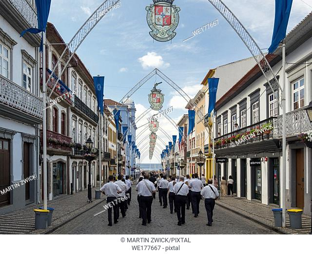 Church going of the local clubs. Religious and Folk festival Sanjoaninas, the biggest festival in the Azores. Capital Angra do Heroismo