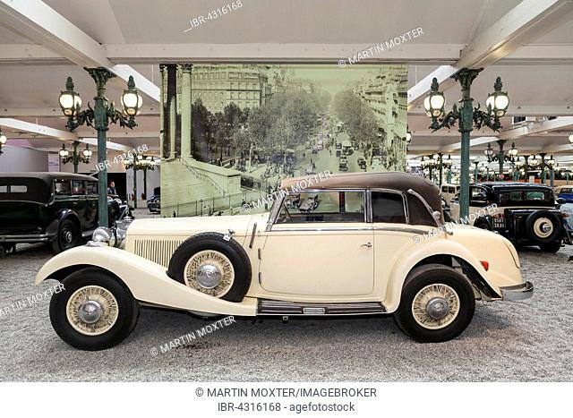 Mercedes Benz, Cabriolet 540k, built in Germany, 1936, Schlumpf Collection, National Museum, National Automobile Museum, Mulhouse, Alsace, France