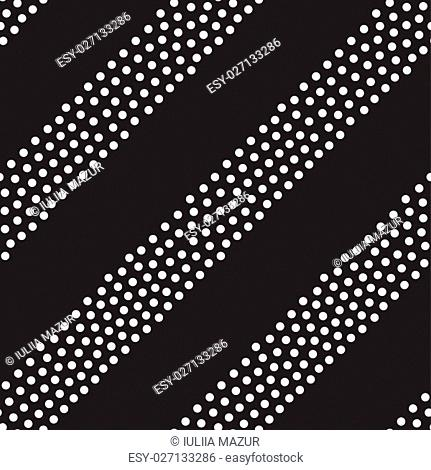 Vector geometric seamless pattern. Repeating abstract stripes gradation in black and white. Modern halftone lines design, pointillism