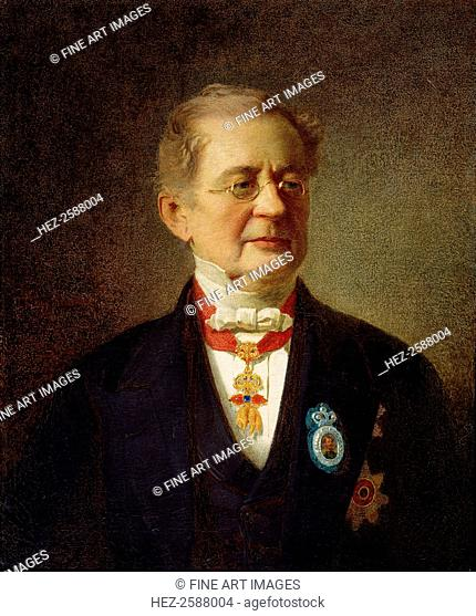 'Portrait of the Chancellor Prince Alexander M Gorchakov', 1867. Prince Gorchakov (1798-1883) served as Russian Foreign Minister from 1856 and as Chancellor of...