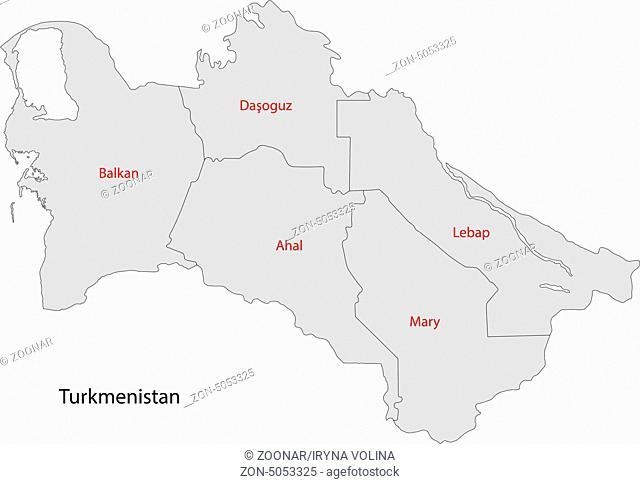 Grey Turkmenistan map