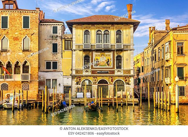 Venetian palace Palazzo Salviati, view from the Grand Canal