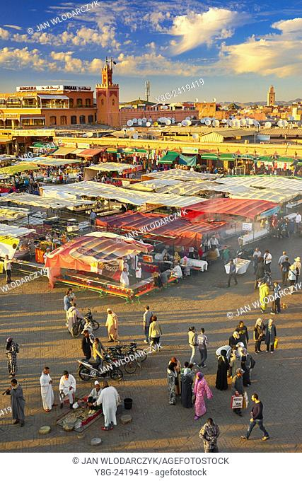 Djemaa el-Fna Square, Marrakech, Morocco, Africa