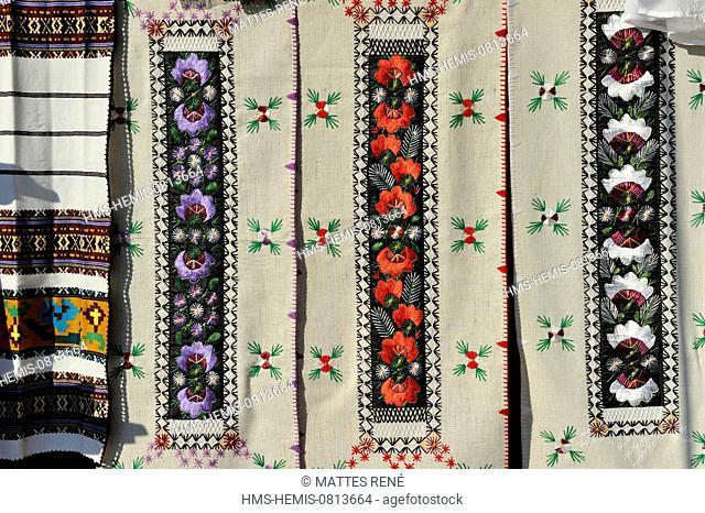 Romania, Bucovina region, traditional embroidery