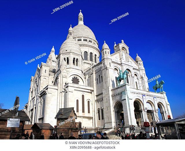 Sacre-Coeur cathedral (1876-1919), Montmartre, Paris, France