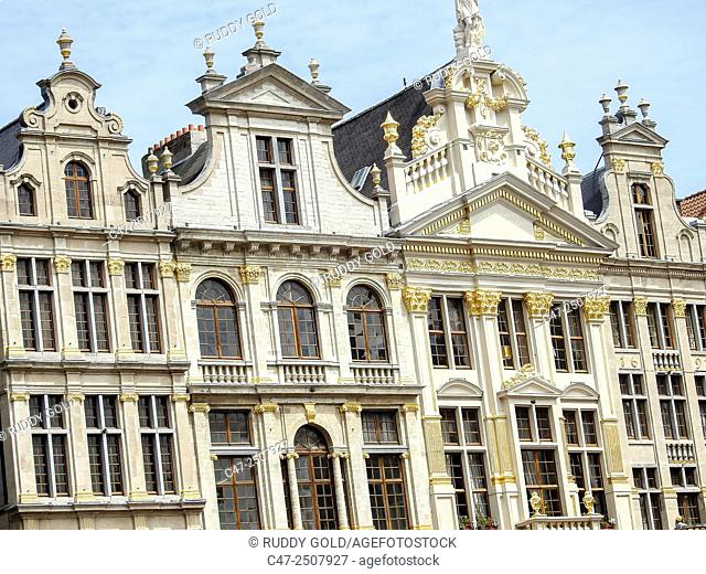 Guildhalls. Grand Place, Brussels, Belgium