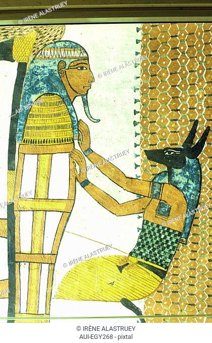 Egypte - Vallee du Nil - Necropole Thebaine - Deir el Medina - Tombe de Sennedjem