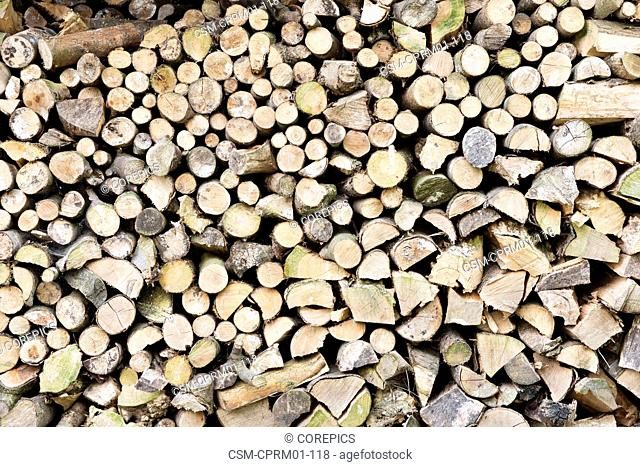 firewood, neatly stacked