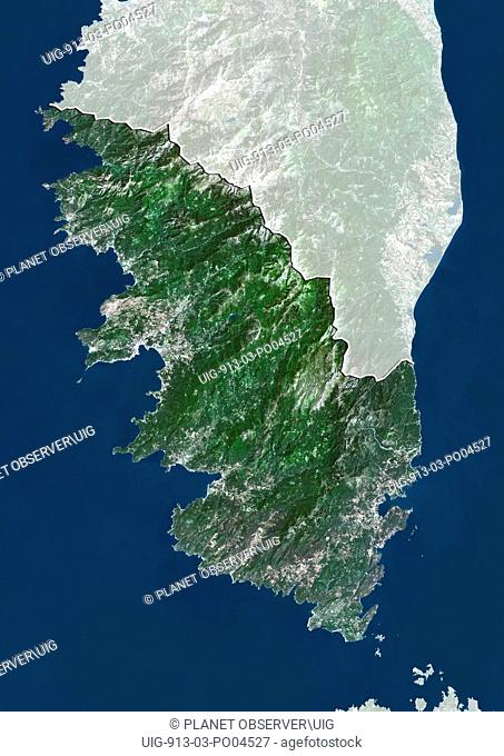 Departement of Corse-du-Sud, France, True Colour Satellite Image