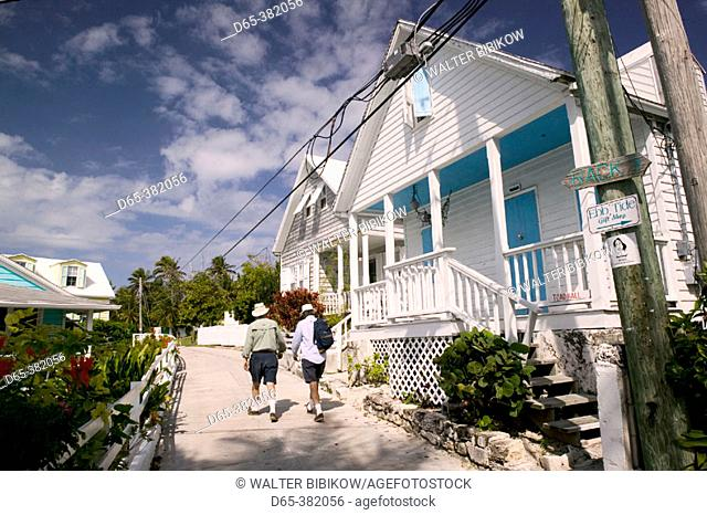Bahamas, Abacos, 'Loyalist Cays , Elbow Cay', Elbow Cay, Hope Town: Town Street (NR)