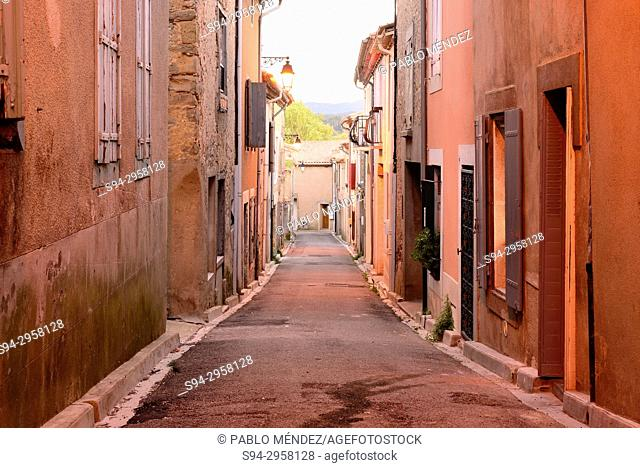 Rustic street of Trebes, Languedoc-Roussillon, France