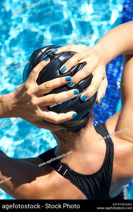 hands on plastic cap