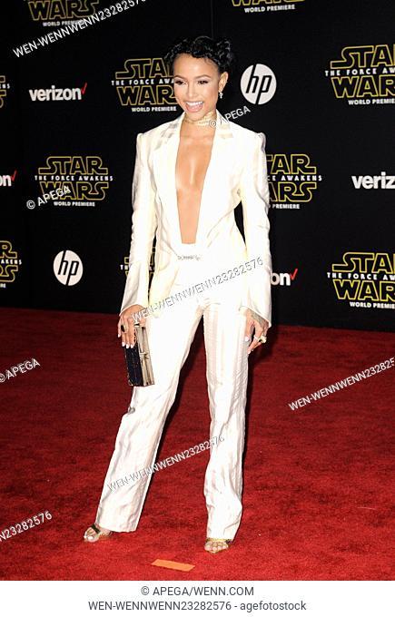 Film Premiere of Star Wars: The Force Awakens Featuring: Karrueche Tran Where: Los Angeles, California, United States When: 15 Dec 2015 Credit: Apega/WENN