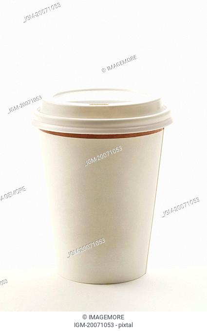 A paper coffee cup