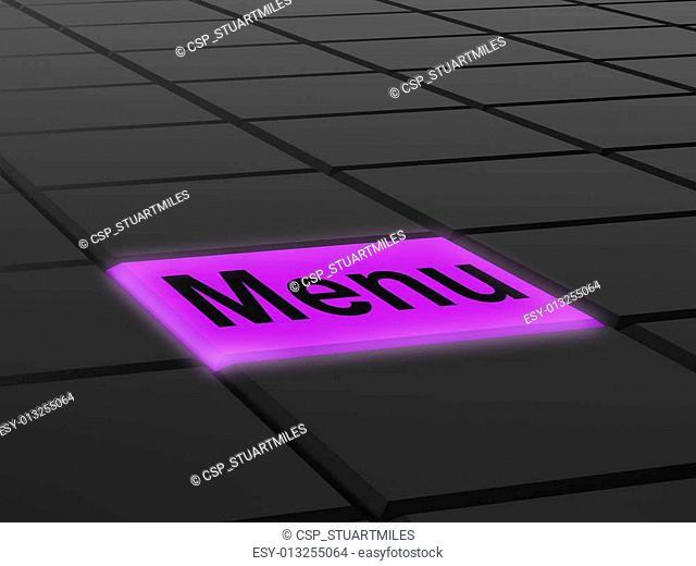 Menu Button Shows Ordering Food Menus Online