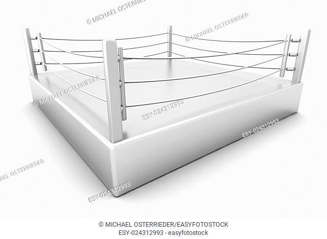 A Boxing ring. 3d illustration