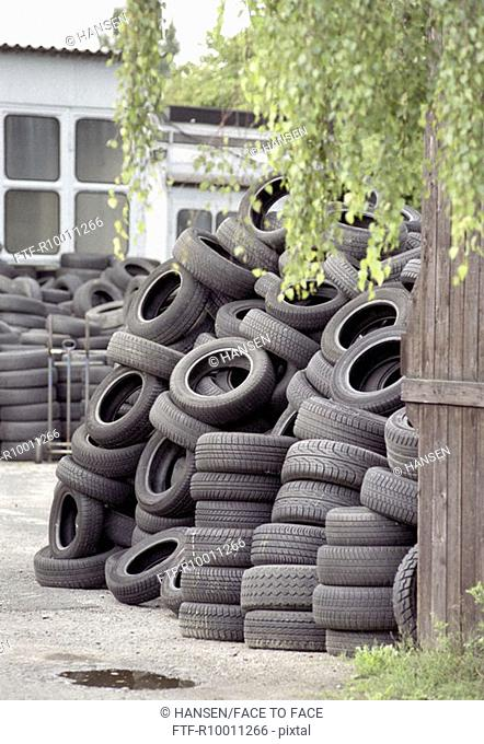 Bald tyre area