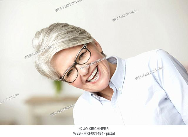 Portrait of laughing mature woman