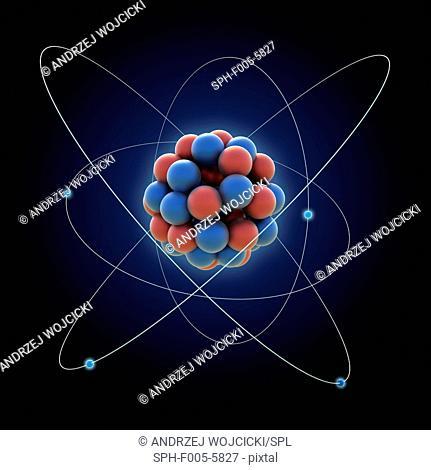 Atom, computer artwork