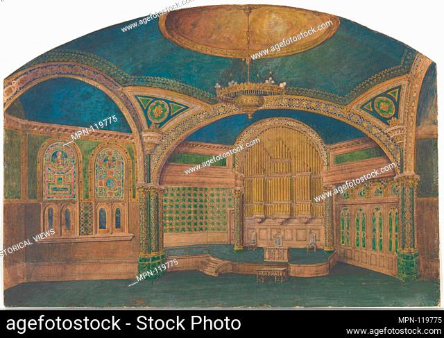 Design for a church interior. Artist: Louis Comfort Tiffany (American, New York 1848-1933 New York); Maker: Possibly Tiffany Glass Company (1885-92); Maker:...