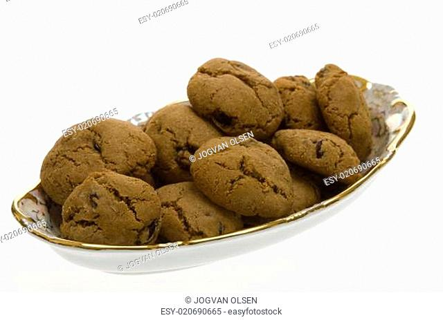 Brown Cookies with raisins
