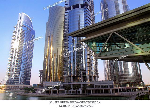 United Arab Emirates, U A E , UAE, Middle East, Dubai, Jumeirah Lake Towers, Platinum Tower, AU Tower, Concorde Tower, AG Tower, Almas Tower, tall building
